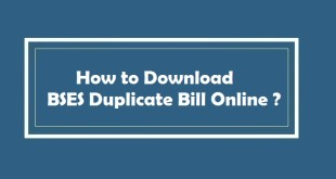 How to Download BSES Duplicate Bill Online