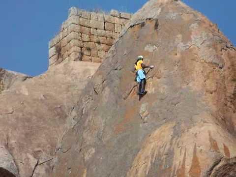 Jyothi Raj at Chitradurga Fort