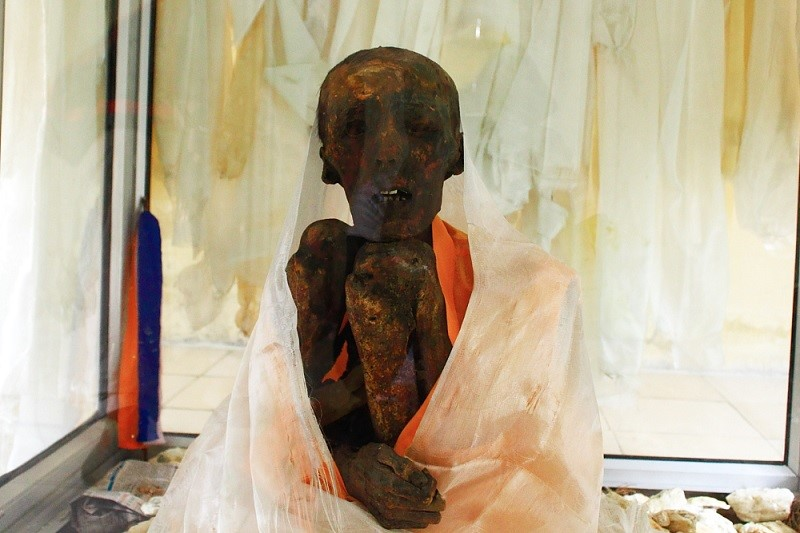 Tenzin – The Only Sitting Monk Mummy in Gue village, Spiti