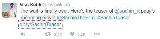 Virat Kohli talks about Sachin's Movie