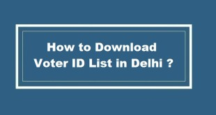 How to Download Voter ID List in Delhi