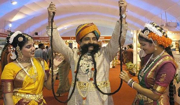 Ram Singh Chauhan Longest Moustache