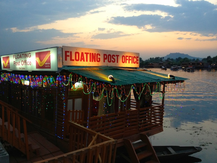 Floating Post Office Night View, Srinagar