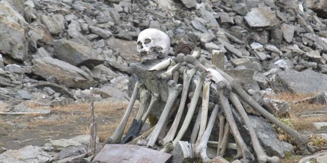 Skeletons at Roopkund Lake