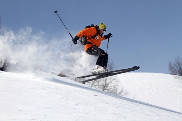 Skiing in Solang Nala