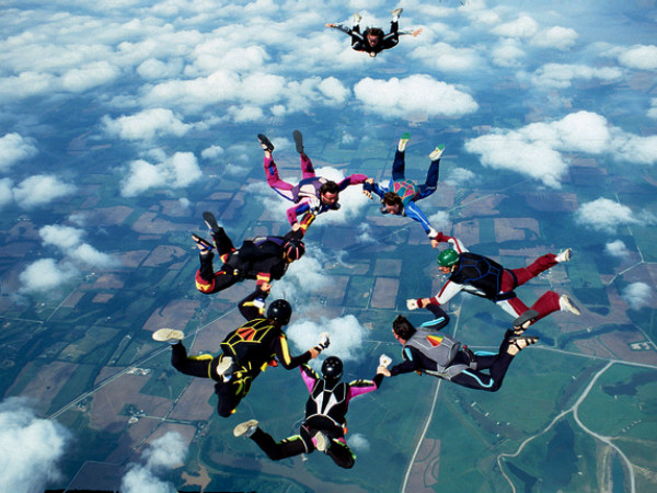 Sky Diving in Deesa
