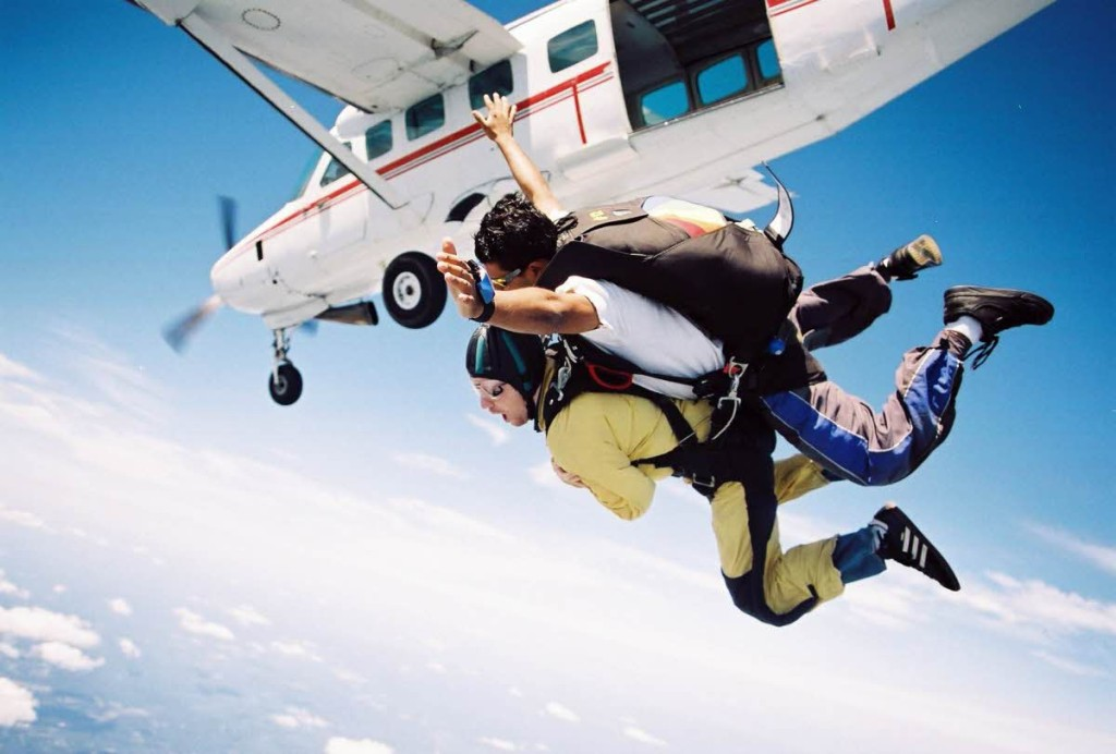 Sky Diving in Mysore