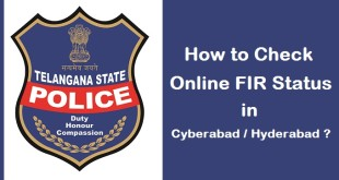 Check FIR Status Online in Hyderabad or Cyberabad in Telangana