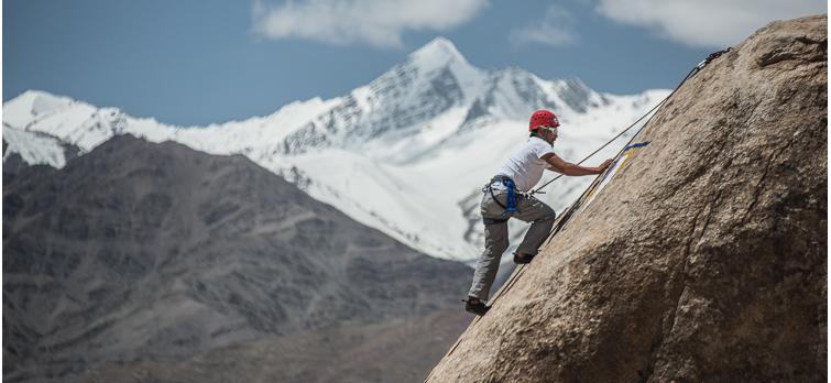 Rock Climbing in Shey Rock