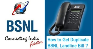 How to Download BSNL Landline Duplicate Bill