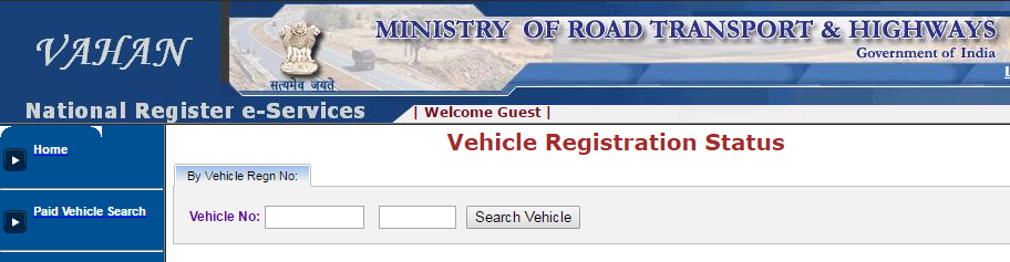 Know Vehicle Registration Details