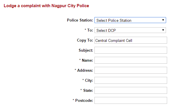 Online FIR in Nagpur