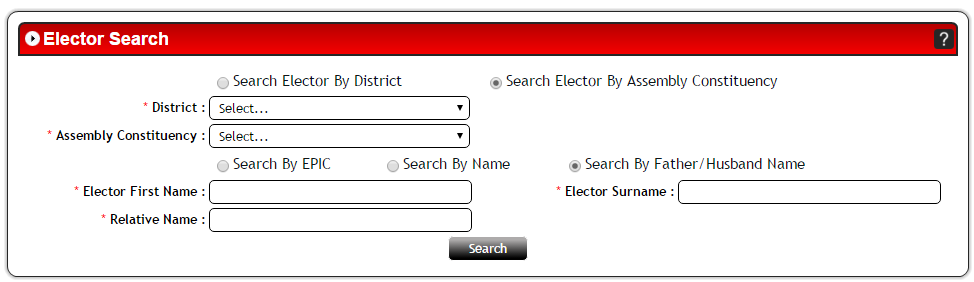 Search your Name in Electoral Roll of Goa