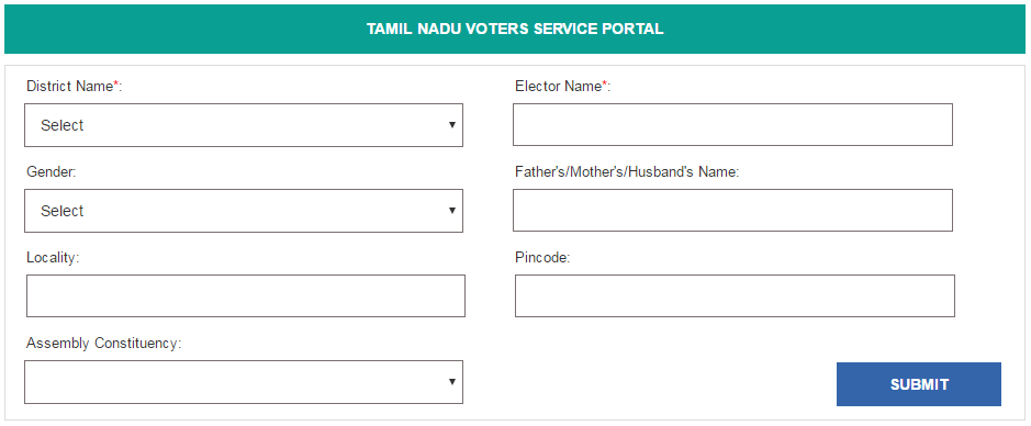 Search your Name in Electoral Roll of Tamil Nadu