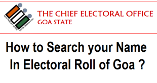 Search your Name in Electoral Roll or Voter List of Goa