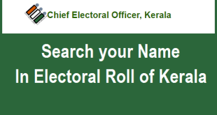 Search your Name in Voter List or Electoral Roll of Kerala