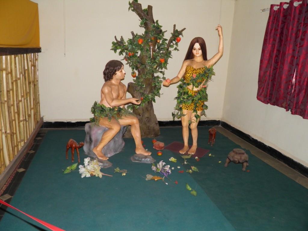 Adam Eve Wax Statue