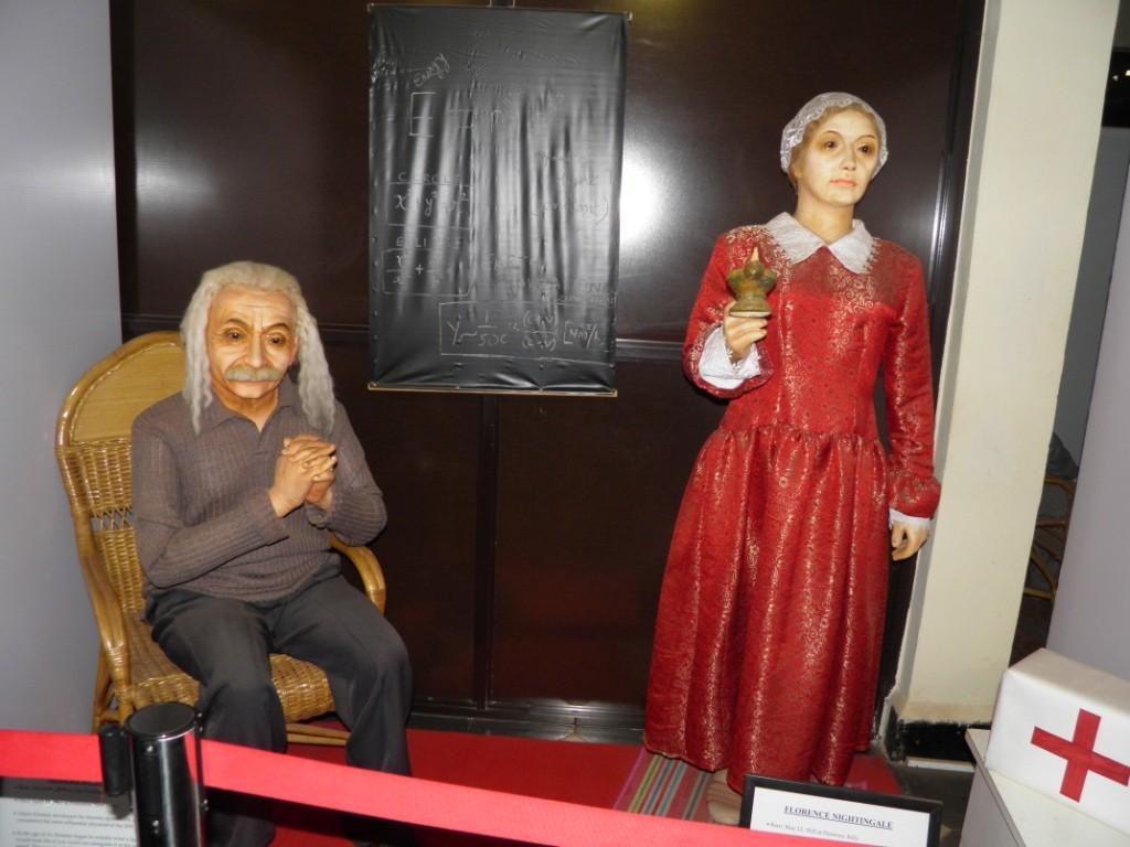 Albert Eintein & Florence Nightingale Wax Statue