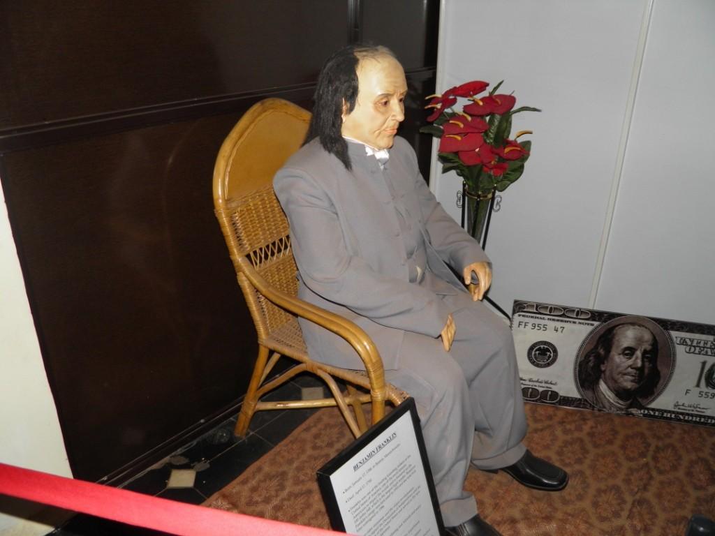 Benjamin Franklin Wax Statue