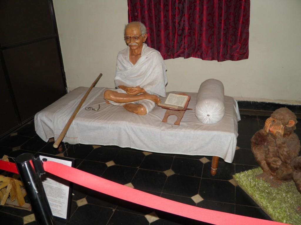Mahatma Gandhi Wax Statue