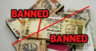 PM Modi bans Rs.500 and Rs.1000 currency notes in India w.e.f 9112016