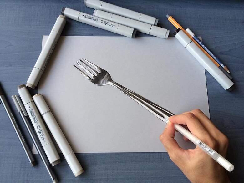 Sushant Rane Fork 3D Art