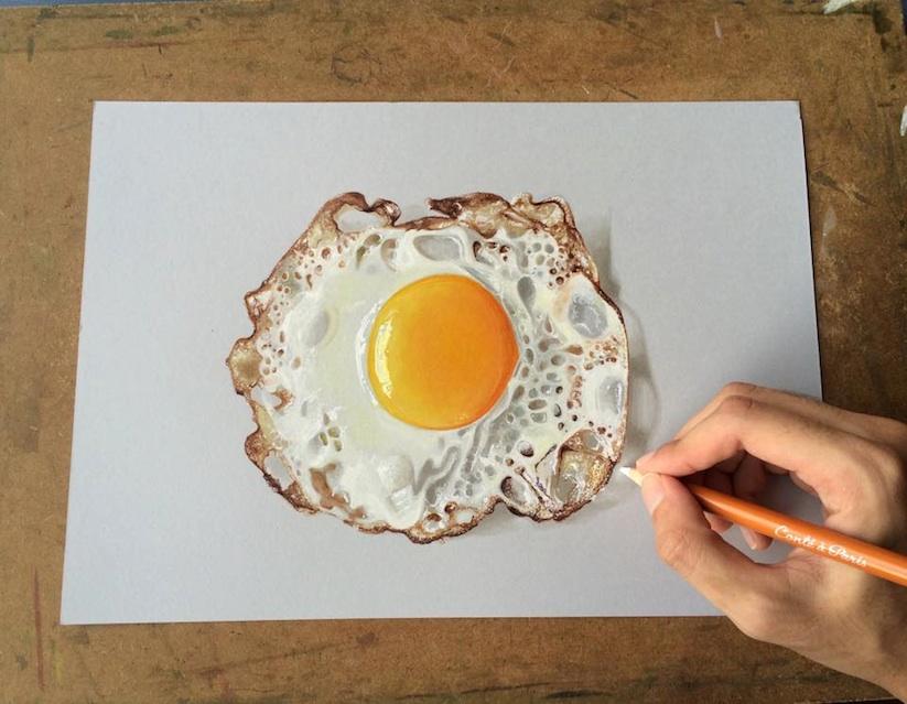 Sushant Rane Omlette 3D Art
