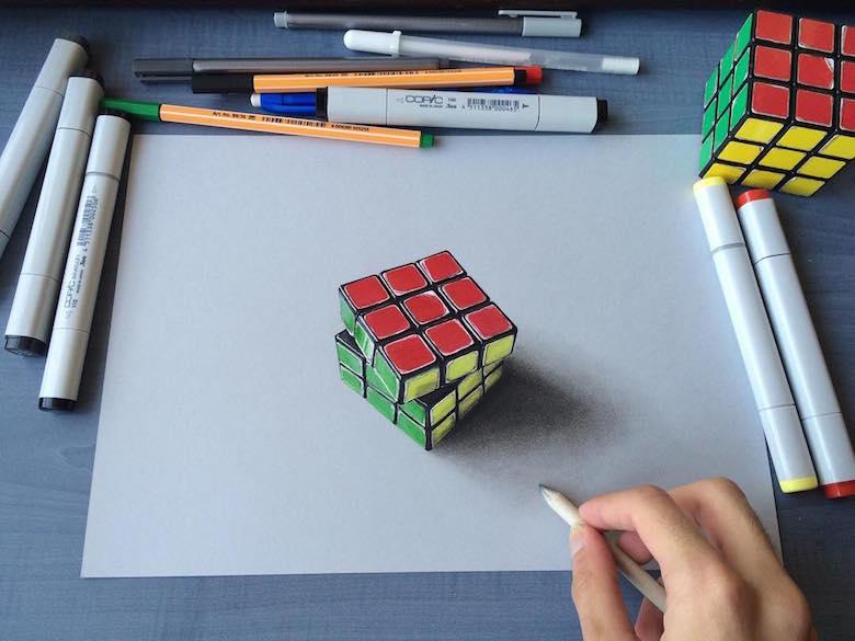 Sushant Rane Rubik's Cube 3D Art