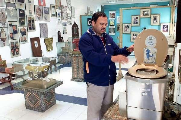Strange Toilet Museum in New Delhi