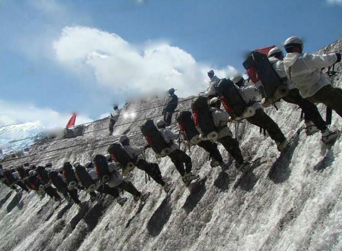 Training at High Altitude Warfare School(HAWS) Gulmarg, Kashmir