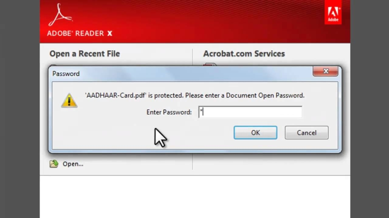 How to open Aadhaar Card PDF File ?