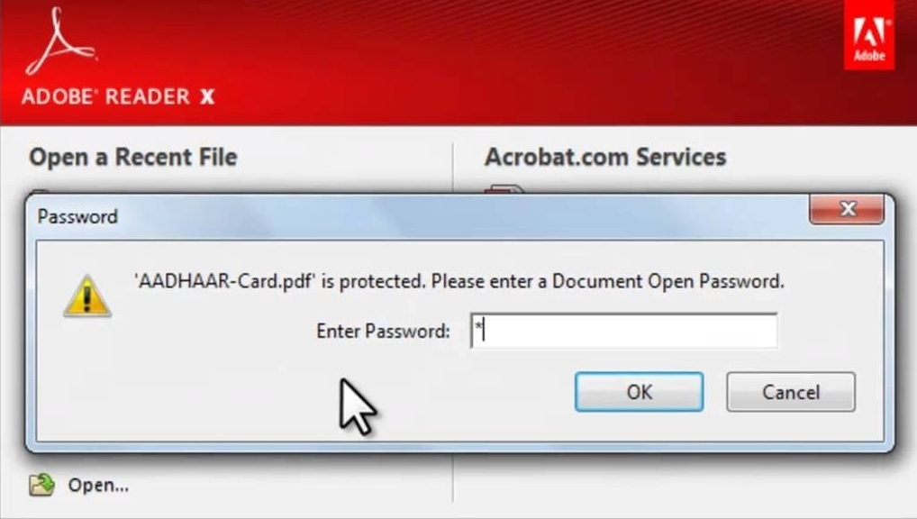 How To Aadhaar Card Pdf File Password