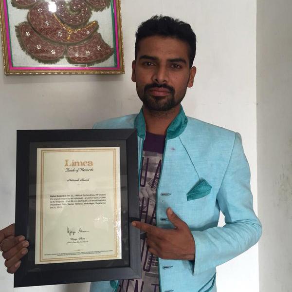 Rahul Swami Rangoli Artist Limca Book of World Records