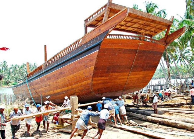 Beypore Ship Building Industry – Where handmade Cargo Uru Ships are built!