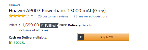 Huawei AP007 Power Bank