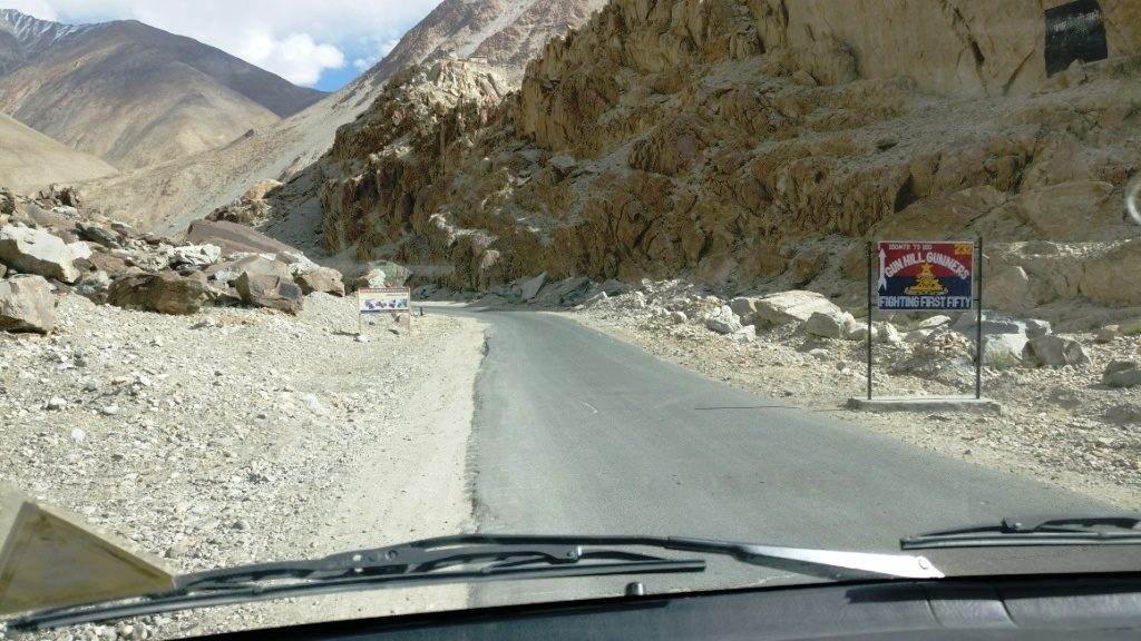 Road Map from Nubra Valley to Pangong Lake
