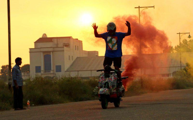 Dinesh Verma Scooter Stuntman