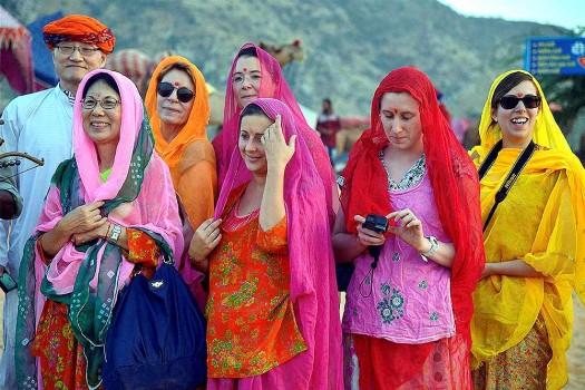 Pushkar Fair Foreign Women