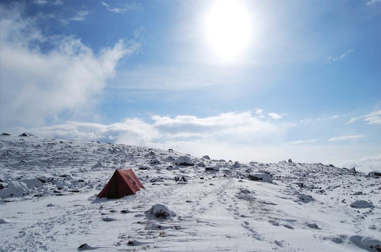 Dzongri trail Snowfall