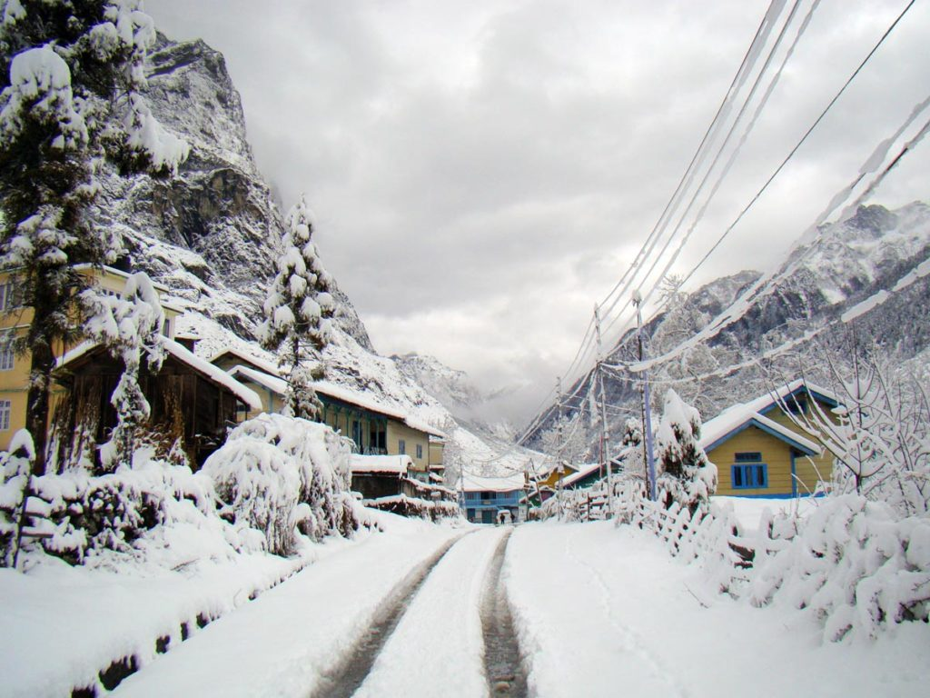 Lachung and Lachen Snowfall