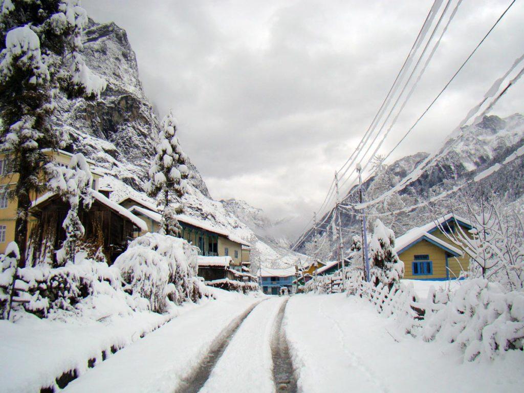 Lachung and Lachen Snowfall