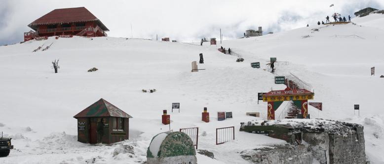 Nathula Pass Snowfall