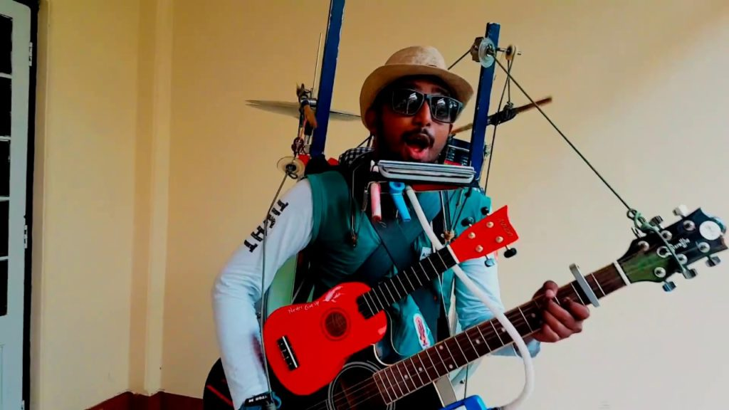 Gladson Peter - One man Band who plays 45 Instruments