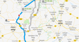Road Route from Delhi to Ranthambore via Delhi-Jaipur Expressway