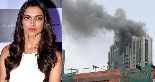 A massive fire broke out where Deepika Padukone lives; she is safe