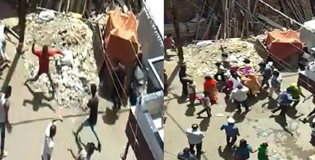 Locals pelt stones at healthcare workers in Indore