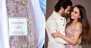 Varun Dhawan-Natasha Dalal's Wedding: Is This Gorgeous Pink Outfit Bride's Wedding Lehenga? (Pics Out)