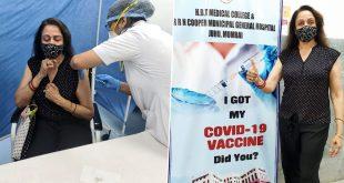 Hema Malini Gets COVID-19 Vaccine in Mumbai's Cooper Hospital (See Pics)